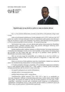 2016 poruka Generalnog direktora