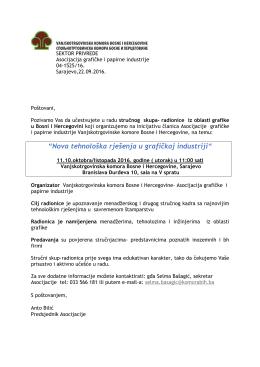 Program - Vanjskotrgovinska / Spoljnotrgovinska komora BiH