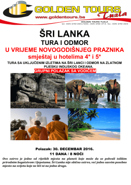šri lanka - Golden Tours