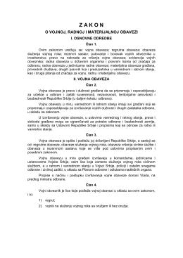 zakon o vojnoj, radnoj i materijalnoj obavezi