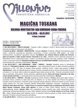 TOSKANA - Turistička agencija Marco Polo