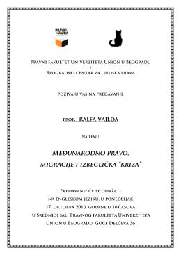 Prof. Ralf Vajld (Ralph Wilde) - Beogradski centar za ljudska prava