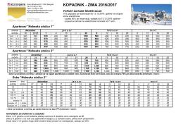 cenovnik za sezonu 2016/2017 [Eur]