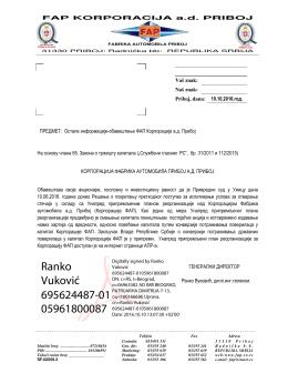 Otvorite dokument - FAP-a