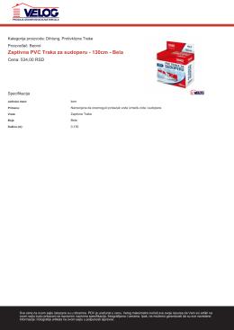 Zaptivna PVC Traka za sudoperu - 130cm - Bela