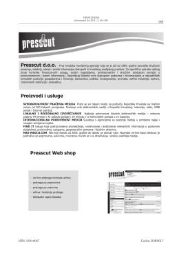Proizvodi i usluge Presscut Web shop