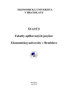 Štatút FAJ - Ekonomická univerzita v Bratislave