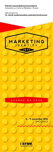 Marketing Identity 2016 - informačná brožúrka