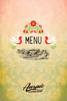 prezrieť menu