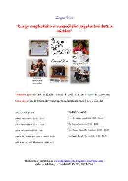 Kurzy anglického a nemeckého jazyka pre deti a mládež