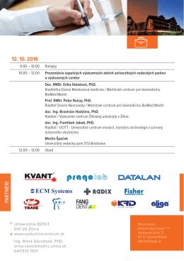 Pozvánka - Research Forum 2016 - Výskumné centrum Žilinskej