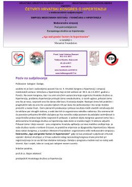Poziv na sudjelovanje ČETVRTI HRVATSKI KONGRES O
