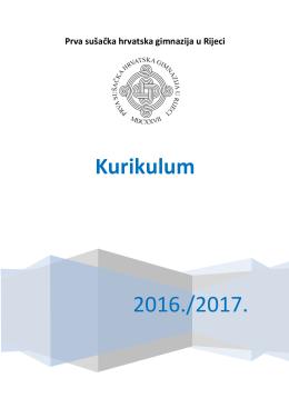 Kurikulum - Prva sušačka hrvatska gimnazija u Rijeci