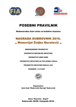 posebni pravilnik - Hrvatski Auto i Karting Savez