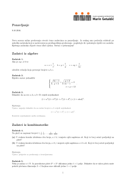 """Ponavljanje - Mladi nadareni matematičari """"Marin Getaldić"""""""