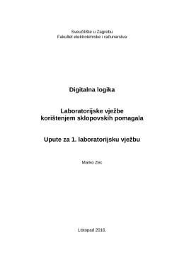 Upute za 1. laboratorijsku vježbu
