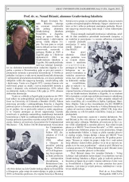 Nešto o sjajnom životu profesora Bićanića napisao je prof.dr.sc