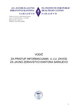 vodič za pristup informacijama u ju zavod za javno zdravstvo