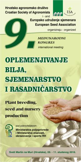 Program kongresa - Hrvatsko agronomsko društvo