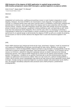 Analiza primjenene razine IHOP koncepta u gradnji teglenice za