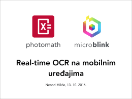 Real-time OCR na mobilnim uređajima