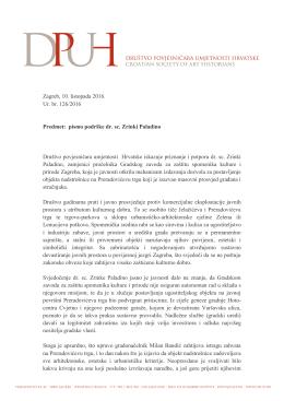 pismo podrške dr. sc. Zrinki Paladino