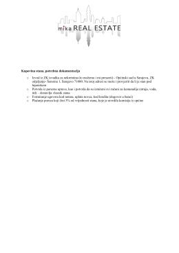 Kupovina stana, potrebna dokumentacija o Izvod iz ZK izvadka za