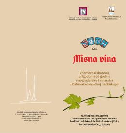 Znanstveni simpozij prigodom 300 godina vinogradarstva i vinarstva