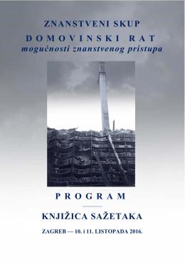 program i knjižica sažetaka - Hrvatska akademija znanosti i umjetnosti