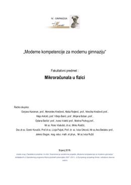 """""""Moderne kompetencije za modernu gimnaziju"""
