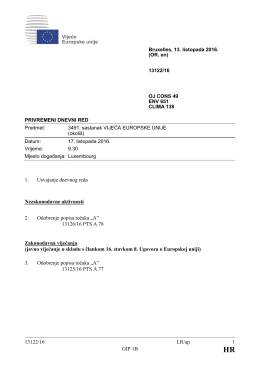 13122/16 LR/ap 1 GIP 1B 1. Usvajanje dnevnog reda