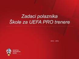 Školovanje za UEFA PRO trenere VIII generacija