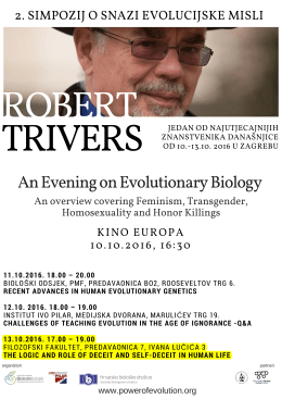 Robert Trivers Lecture Zagreb