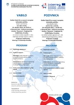 VABILO POZIVNICA - Služba Vlade Republike Slovenije za razvoj in