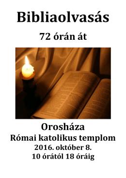 Bibliaolvasás 72 órán át