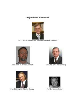 Mitglieder des Kuratoriums