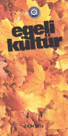 Egeli Kültür Ekim Ayı Programı - E.Ü. Sağlık Kültür ve Spor Daire