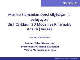 Dişli Çarklar - Erzurum Teknik Üniversitesi