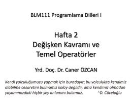 Türkçe - Caner ÖZCAN