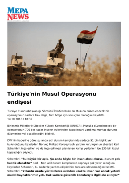 Türkiye`nin Musul Operasyonu endişesi