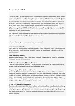 Rehberlik - Ege Aktif Eğitim Kurumları
