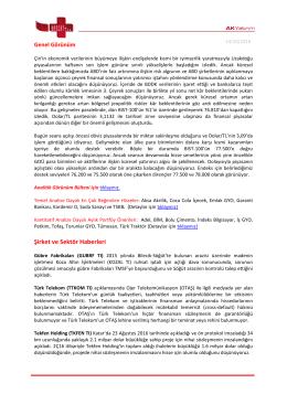 Şirket ve Sektör Haberleri