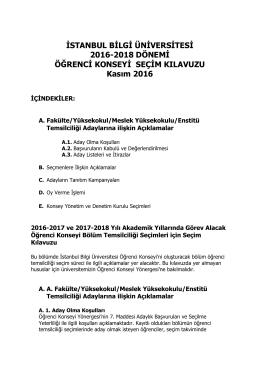 Seçim Kılavuzu - İstanbul Bilgi Üniversitesi