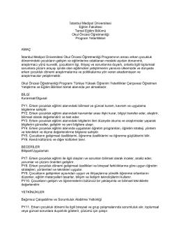 Program Yeterliliği - Medipol Üniversitesi