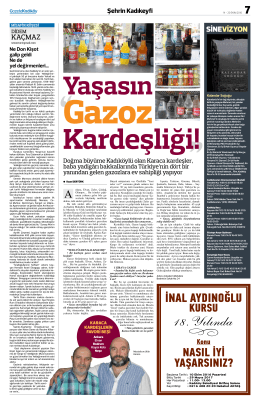 sinevizyon - Gazete Kadıköy