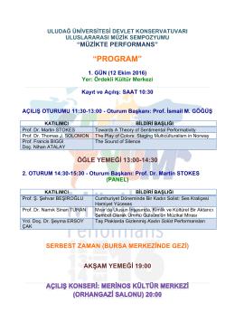 program - Uludağ Üniversitesi