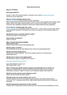 FAQ - NTC Mac Bebeköy (18 Ekim)