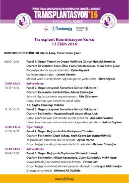 Transplant koordinasyon kursu