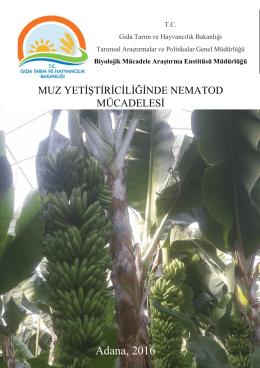 Adana, 2016 - TC Gıda Tarım ve Hayvancılık Bakanlığı