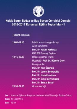 KBB-BBC Derneği 2016-2017 Kurumsal Eğitim Programı İlk Toplantısı